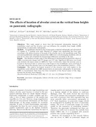 The effects of location of alveolar crest on the vertical bone heights ...