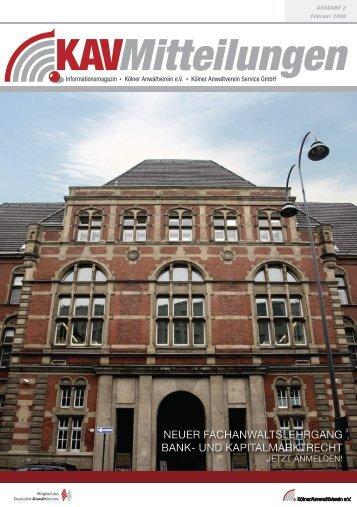 g 2008 - Kölner Anwaltverein - Deutscher Anwaltverein