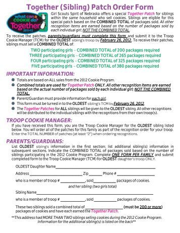 presidential service award order form   the girl scouts