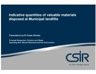 Indicative quantities of valuable materials disposed at ... - Alive2green