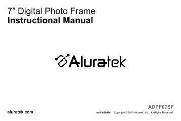 8 102 12 Digital Photo Frame Instructional Manual Radio Shack