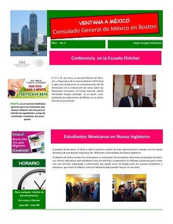 Boletín Informativo No. 6 - Secretaría de Relaciones Exteriores