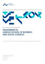 velkommen til aarhus school of business and social sciences