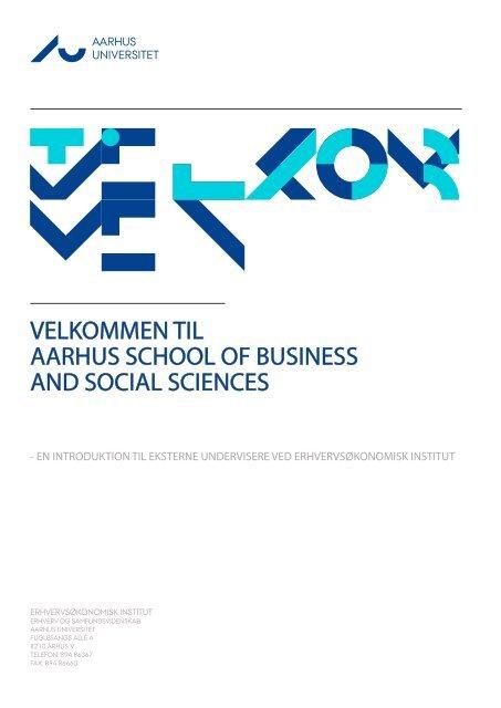velkommen til aarhus school of business and social sciences