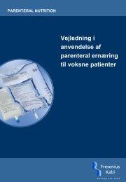 Vejledning i anvendelse af parenteral ernæring til voksne patienter