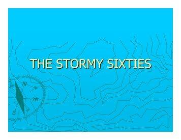 THE STORMY SIXTIES - TeacherWeb
