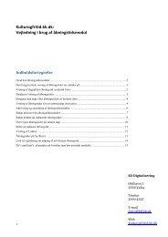 Kulturogfritid.kk.dk: Vejledning i brug af åbningstidsmodul