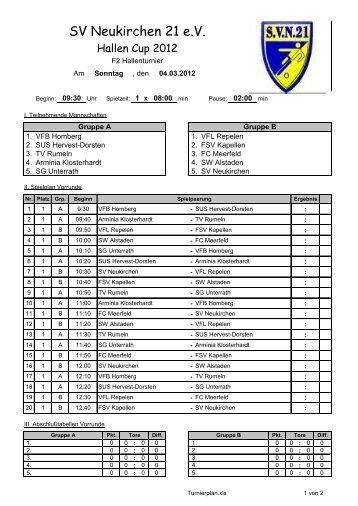 Übersicht - SV Neukirchen - SV Neukirchen 21 e.V.