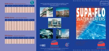 SupaFlow water heaters - CMS