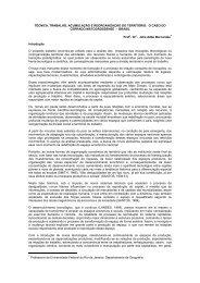 TÉCNICA, TRABALHO, ACUMULAÇÃO E REORGANIZAÇÃO DO ...