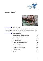 PRESSEMAPPE - Andheri-Hilfe Bonn