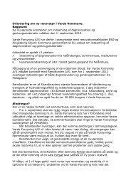 Orientering om ny renovatør i Varde Kommune. Baggrund De ...