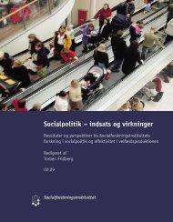 Socialpolitik – indsats og virkninger - SFI