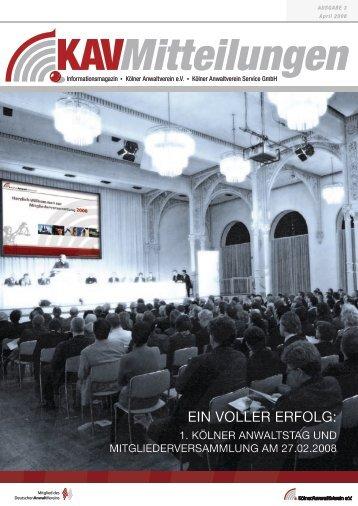 Ein vollEr Erfolg: - Kölner Anwaltverein