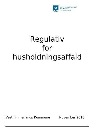 Regulativ for husholdningsaffald - Vesthimmerlands Kommune