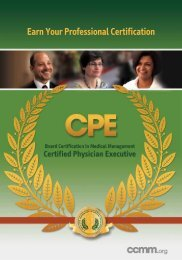 Certified Physician Executive (CPE) - Michigan Health & Hospital ...