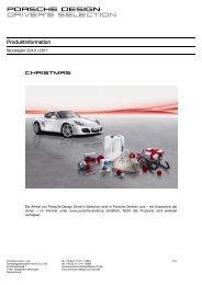 Produktinformation - Porsche Design
