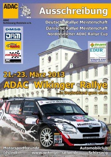 Ausschreibung - ADAC Wikinger Rallye Homepage