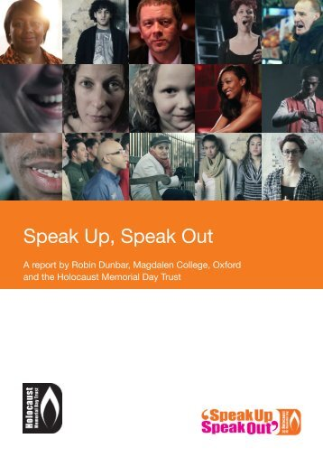 Speak Up, Speak Out - Holocaust Memorial Day Trust