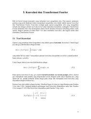 5. Konvolusi dan Transformasi Fourier ∫ ∑