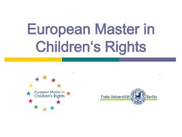 European Master in Children's Rights - Open DC