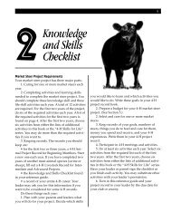 Knowledge and Skills Checklist