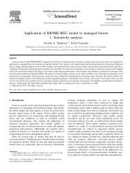 Application of BIOME-BGC model to managed forests 1. Sensitivity ...