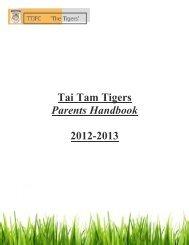 Tai Tam Tigers Parents Handbook 2012-2013 - DragonNet - Hong ...