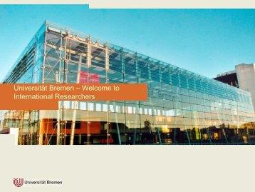 Gastwissenschaftlerportal der Universität Bremen - Open DC
