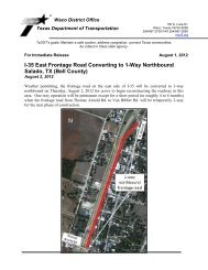 I-35 East Frontage Road Converting to 1-Way Northbound Salado, TX