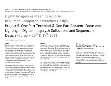 Digital Imagery as Meaning & Form in Human-Computer Interaction ...