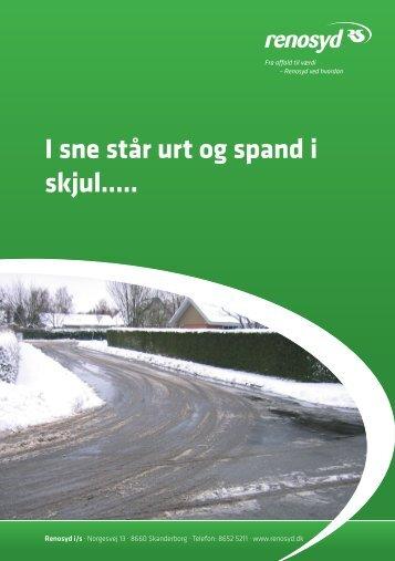 Indsamling af dagrenovation og papir i sne - Renosyd