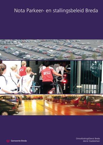 Nota Parkeer- en stallingsbeleid Breda