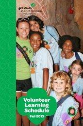 Volunteer Learning Schedule - Girl Scouts Spirit of Nebraska