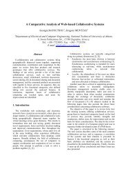A Comparative Analysis of Web-based Collaborative Systems