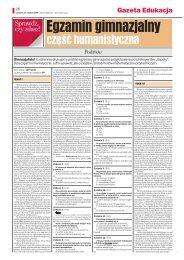 Egzamin gimnazjalny - Gazeta.pl