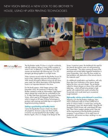 HP Designjet L25500 Printer | IT Case Study | New Vision| HP