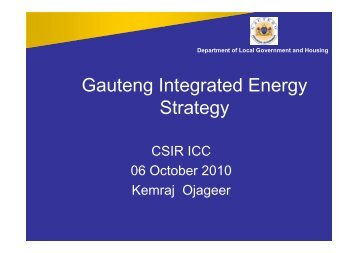 Gauteng Integrated Energy Strategy - Alive2green