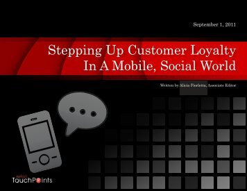 Stepping Up Customer Loyalty In A Mobile, Social World