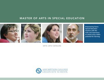 master of arts in special education - graduate studies at assumption ...