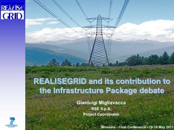 REALISEGRID and its contribution to the Infrastructure Package ...