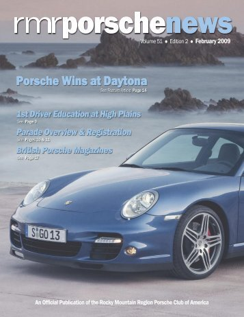 Editor's Note - Rocky Mountain Region Porsche Club - Porsche Club ...