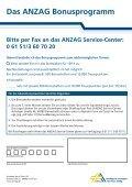 ANZAG Bonusprogramm - Seite 4