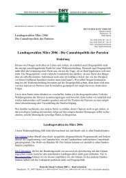 Landtagswahlen März 2006 - des Deutschen Hanf Verband