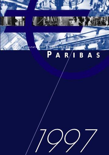 1997-Rapport Annuel de Paribas - BNP Paribas