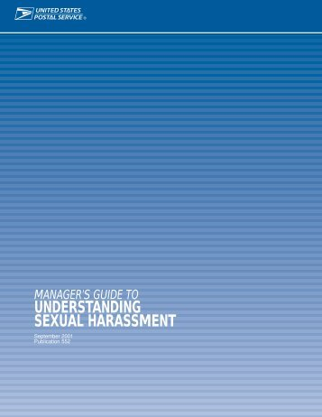 Manager's guide to Understanding Sexual Harassment - Local 300 ...