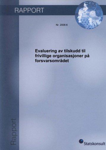 Evaluering av tilskudd til frivillige organisasjoner på ... - Difi