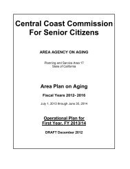 Copies of the Draft Planning and Service Area Plan - Central Coast ...