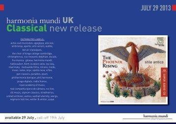 JULY 29 wp - Harmonia Mundi UK Distribution