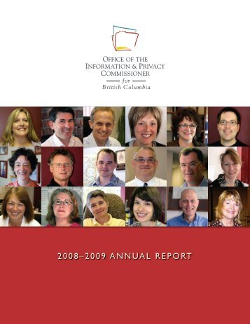 2008–2009 AnnuAl RepoRt - Office of the Information and Privacy ...